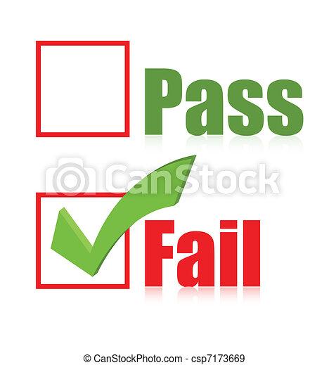 choose fail box illustration design - csp7173669