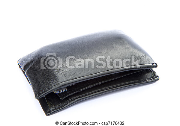 Macr close up of leather wallet financial concept - csp7176432