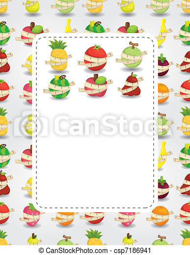 fresh fruit and ruler health card - csp7186941