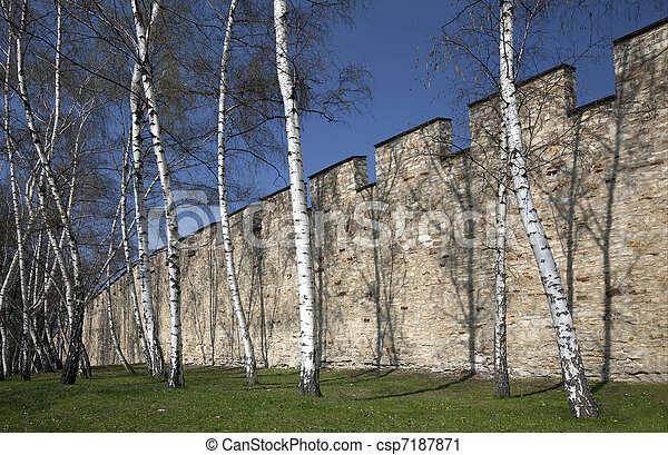 Prague - The Hunger Wall at Petrin Hill - csp7187871
