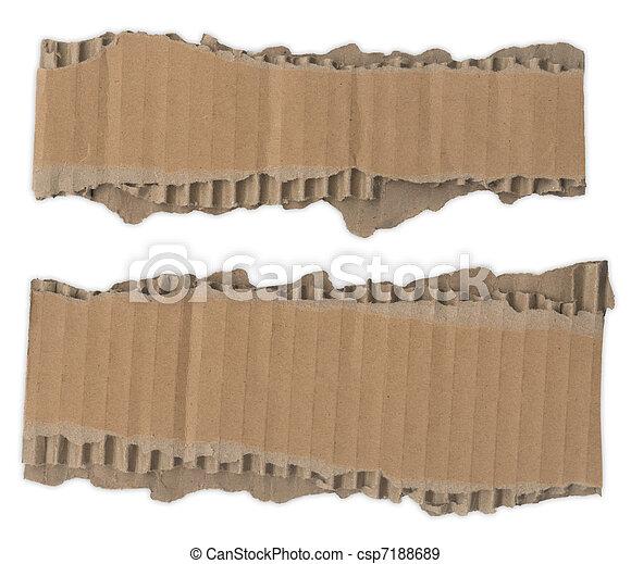 Torn Cardboard Strips - csp7188689