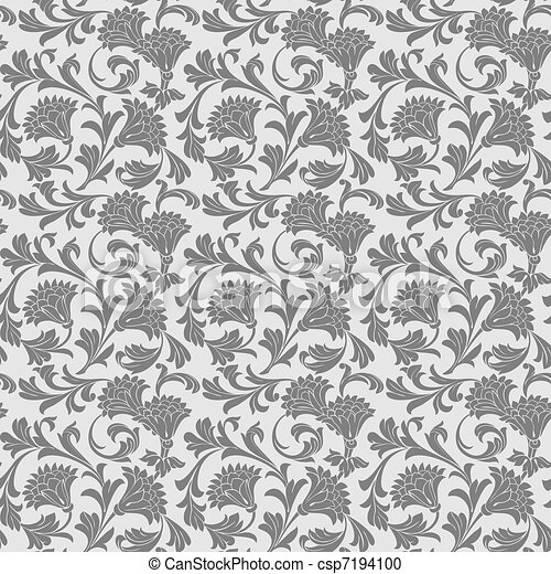 Antique wallpaper decor - csp7194100
