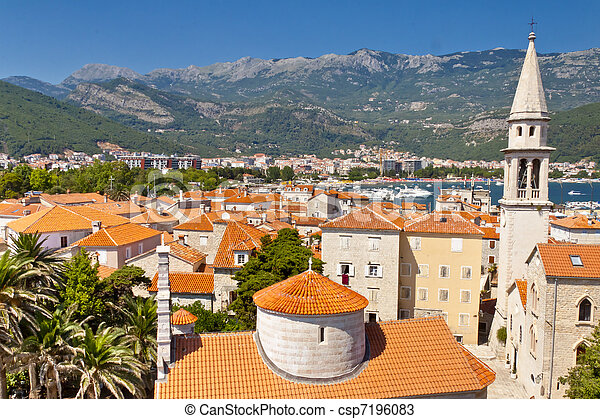 View on Budva old town - Montenegro - csp7196083