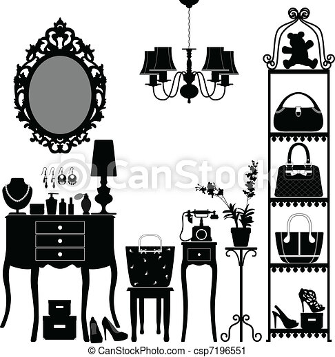 Woman Cosmetic Furniture Room - csp7196551