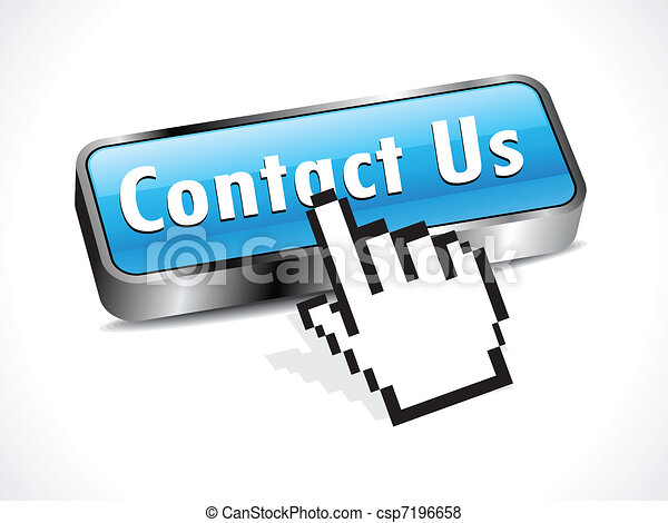 abstract glossy contact button  - csp7196658