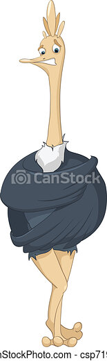 Cartoon Character Ostrich - csp7197164