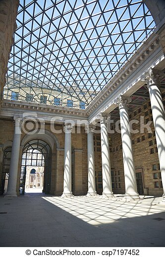 skylight and great colonnade - csp7197452