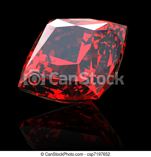 Jewelry gems shape of square - csp7197652