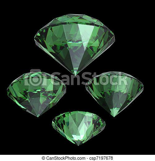 Round emerald - csp7197678