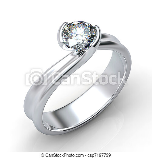 Ring with diamond isolated  - csp7197739