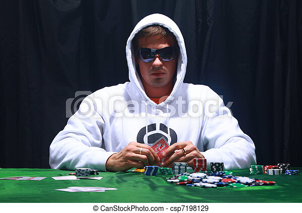 Cool poker player - csp7198129