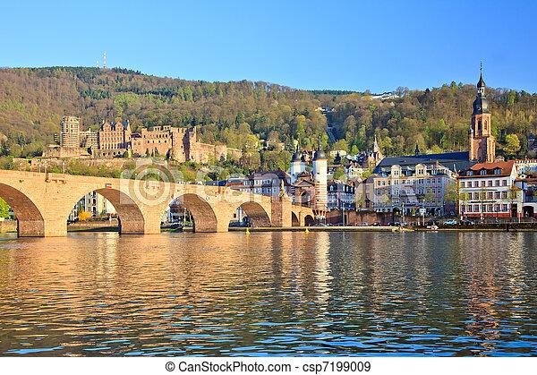 Bridge in Heidelberg, Germany - csp7199009