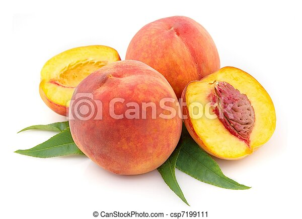 ripe peach fruits - csp7199111