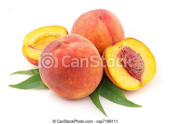 ripe peach fruits - csp7199111