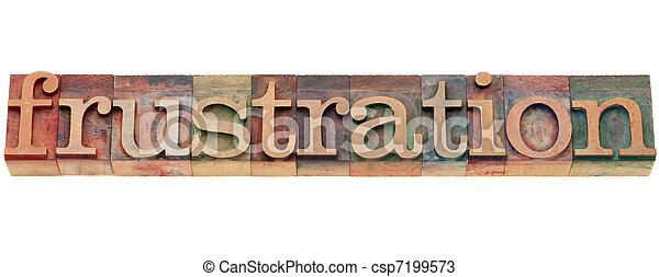 frustration word in letterpress type - csp7199573