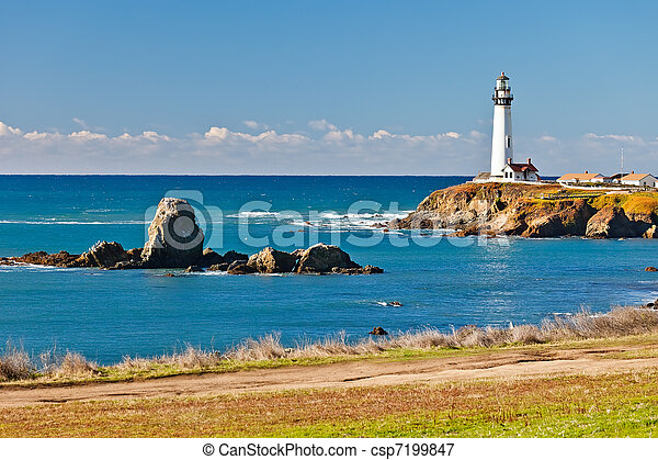 Pigeon Point Lighthouse on California coast - csp7199847