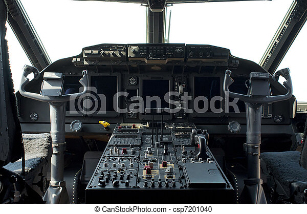 Cockpit of a military aircraft - csp7201040
