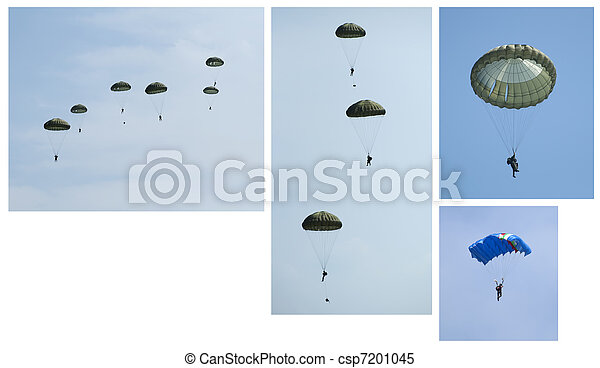 Paratroopers, Group and independent - csp7201045