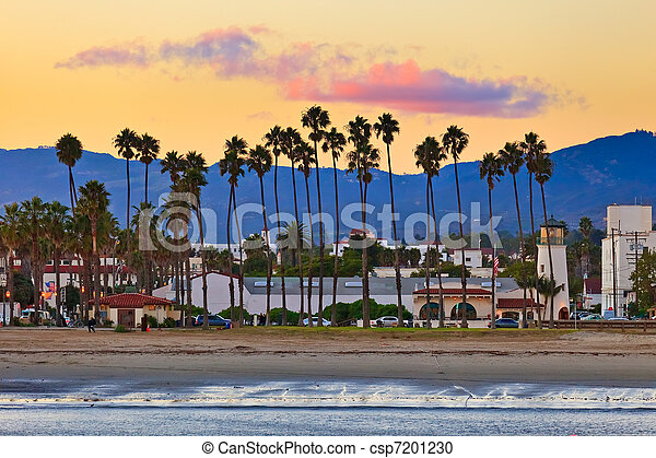 View on Santa Barbara from the pier - csp7201230