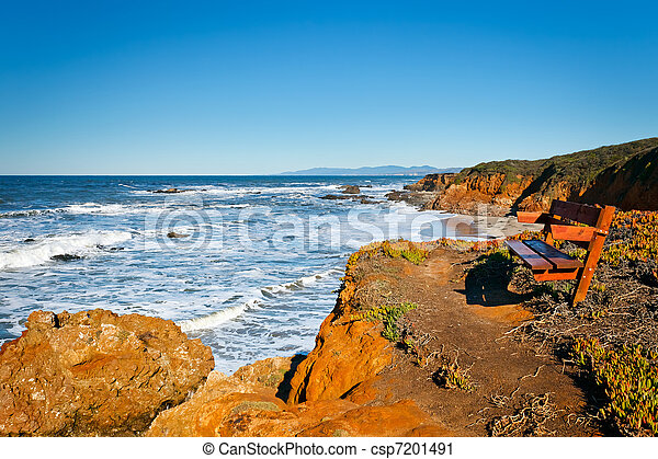 Pacific Ocean coast, California, USA - csp7201491