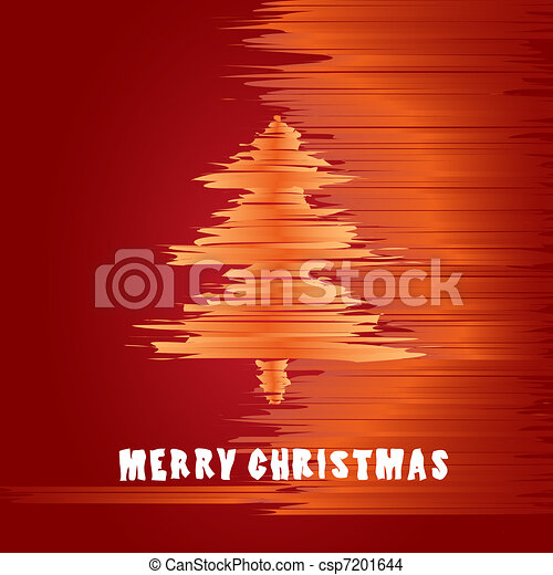 Christmas greeting card in warm colors - csp7201644