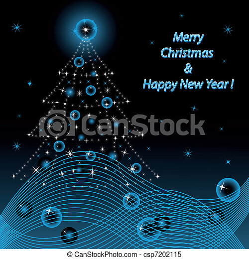 Merry Christmas and Happy New Year - csp7202115