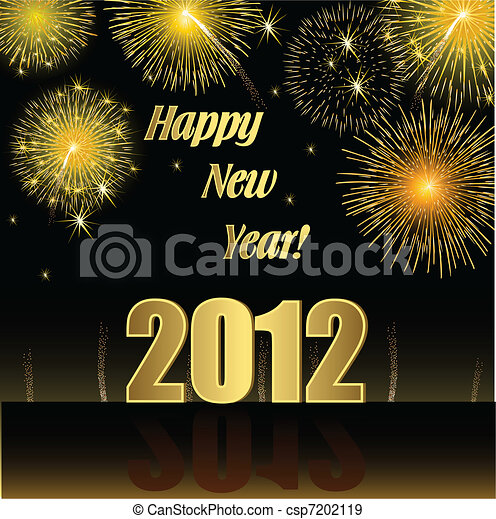 Happy New Year 2012 - csp7202119