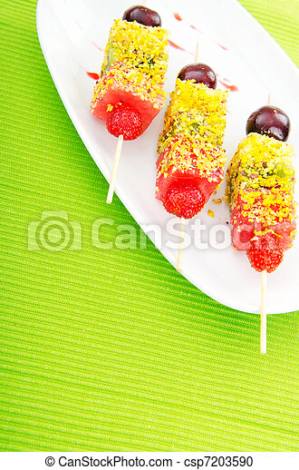 Fruit dessert in the plate - csp7203590
