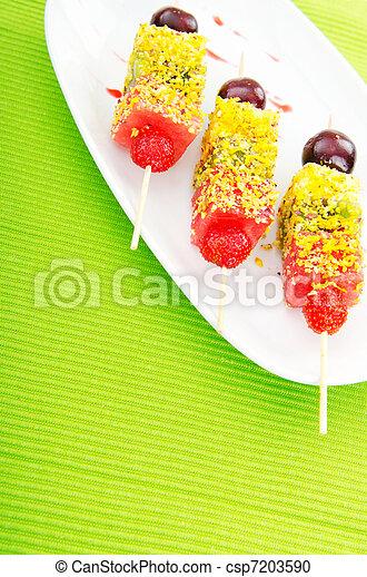 Fruit dessert in the plate - csp7203590
