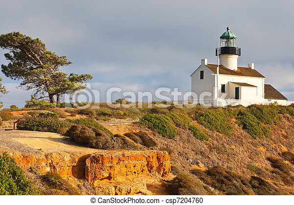 Point Loma Lighthouse in Cabrillo National Park, San Diego - csp7204760