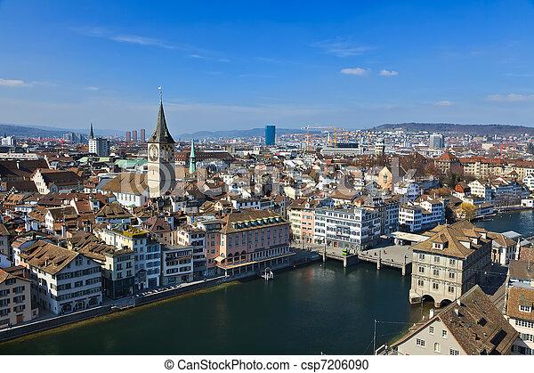 View on Zurich, Switzerland - csp7206090