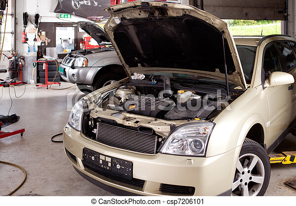 magasin, voiture, réparation - csp7206101