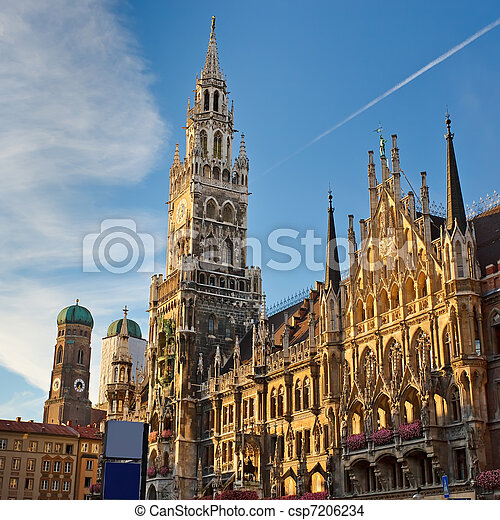 New Town Hall in Munich - csp7206234
