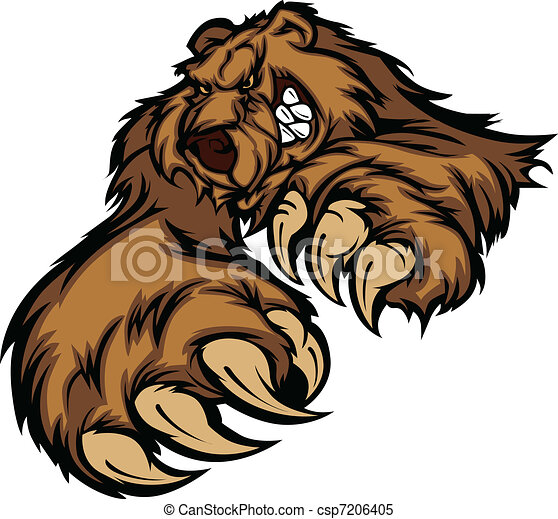 Grizzly Bear Mascot Body with Paws  - csp7206405