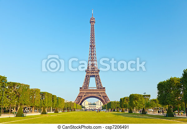 Eiffel Tower, Paris, France - csp7206491