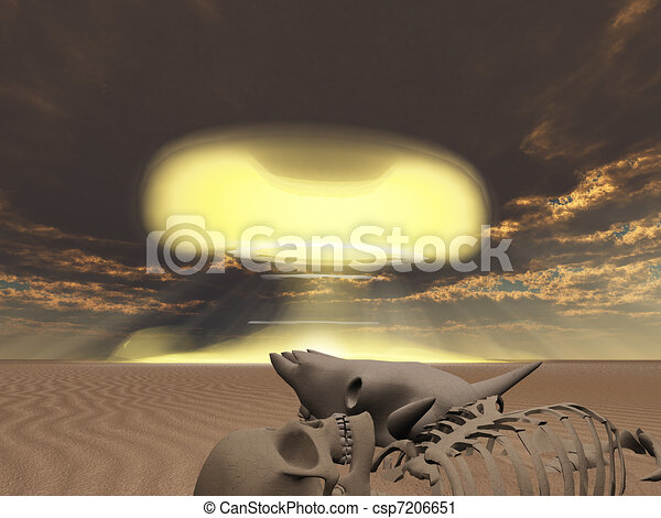Skeletal remains and nuclear explosion - csp7206651