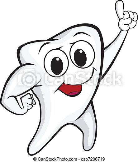 Tooth cartoon - csp7206719
