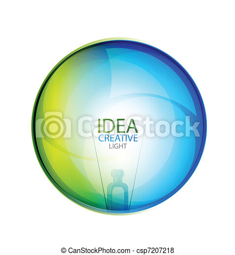 Vector glossy idea bubble - csp7207218