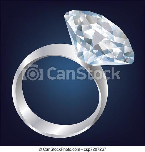 Diamond Shiny bright ring. - csp7207267
