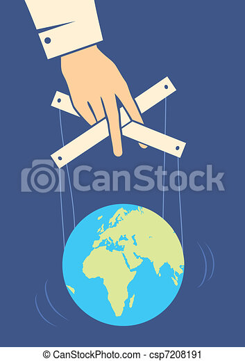 Hand controls the Earth - csp7208191