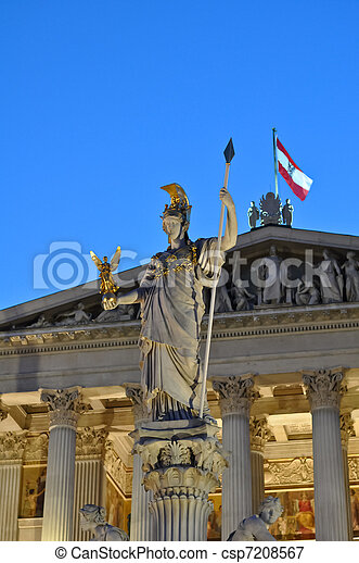 statue of athena in vienna - csp7208567