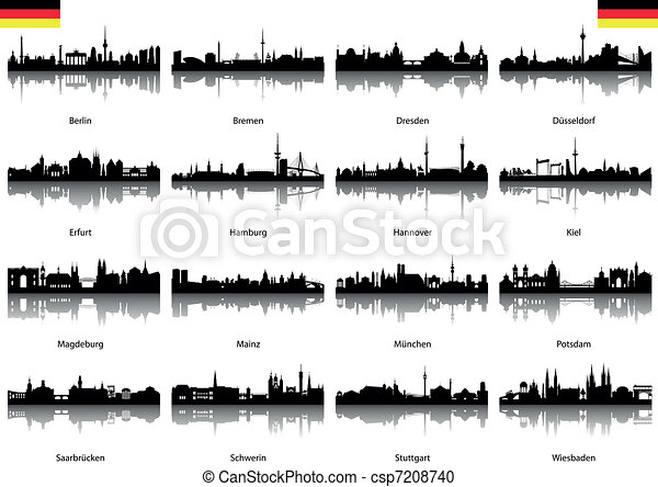 Vector Silhouettes of Germany - csp7208740