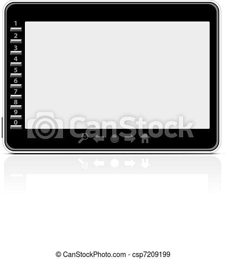 Portable modern e-book reader - csp7209199