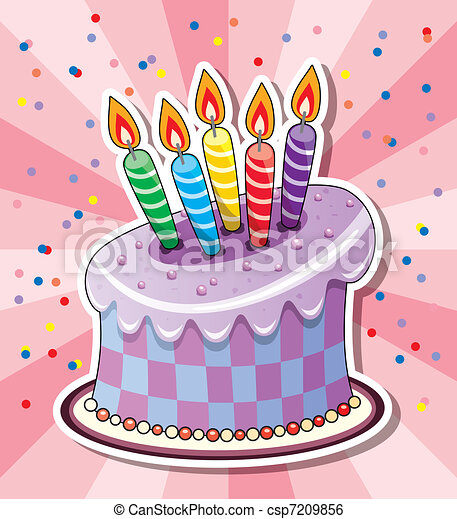 Birthday cake Clipart Vector and Illustration 34496 Birthday