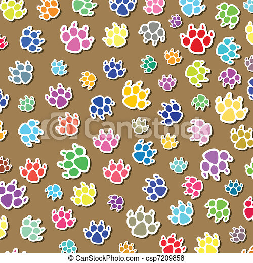 dog's foot prints - csp7209858