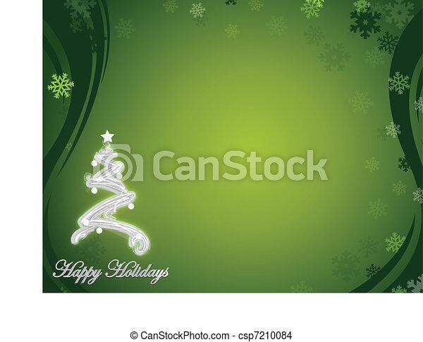 nice green happy holidays - csp7210084