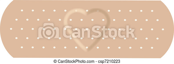 The adhesive bandage with love. - csp7210223