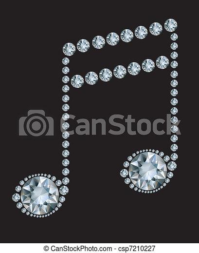 Diamond Music Note  - csp7210227