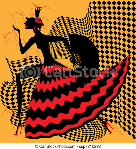 flamenco dancer - csp7210292