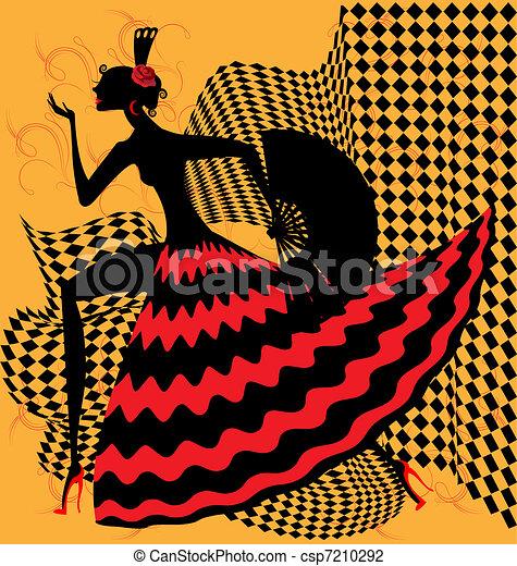 flamenco dancer - csp7210292